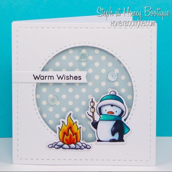 Birdie Brown Toasty Greetings stamp set and Die-namics - Steph Hill #mftstamps