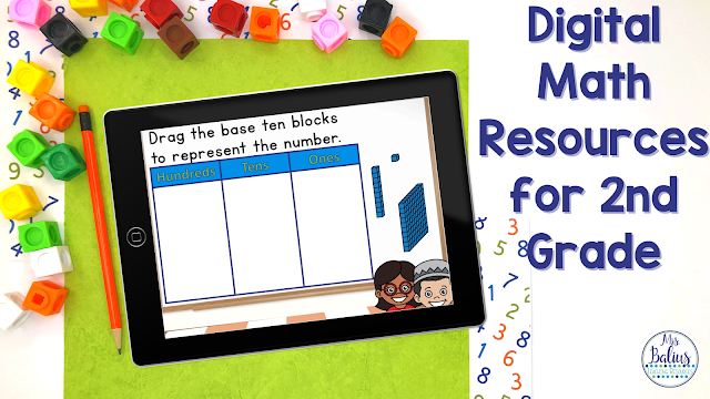 Digital Math Resources Your Second Grade Students Will Love! - Mrs Balius:  Teaching Resources To Share