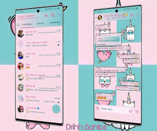 Cat Unicorn Theme For YOWhatsApp & Fouad WhatsApp By Driih Santos