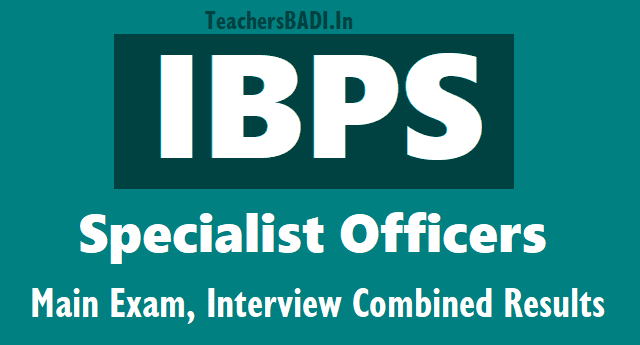 ibps so specialist officers main exam, interview combined results @ ibps.in,ibps so mains interview results,ibps so final selection list results