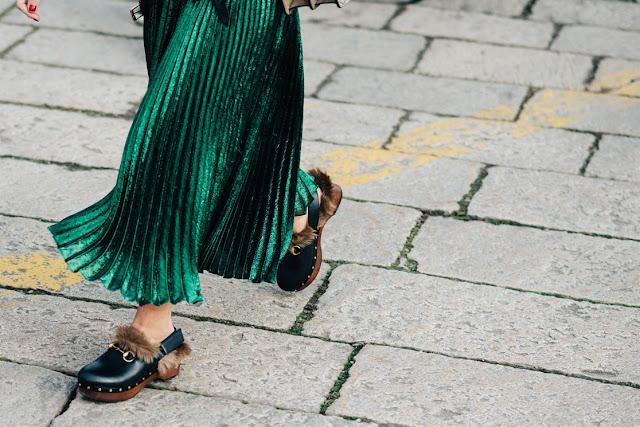 gonne plissettate, streetstyle milano fashion week