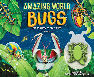 Bold, bright, and informative! Kids will love learning about these twenty crazy and fascinating bugs. From the spiny flower mantis to glowing cockroach, kids are sure to be captivated by the crazy and cool things bugs can do! #AmazingWorldBugs #NetGalley #Bugs