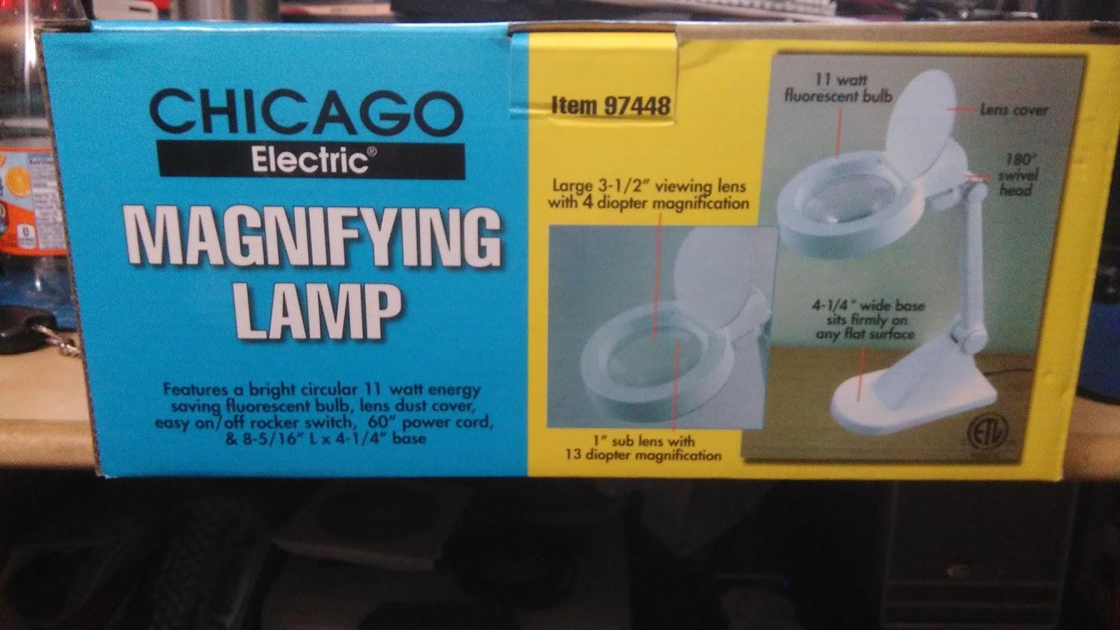 Tech Stuff: Harbor Freight 97448/60642 Desktop Magnifying Lamp