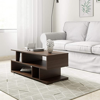 Solimo Wood Coffee Table Made from Premium Quality Engineered Wood & With a Rich Walnut Finish