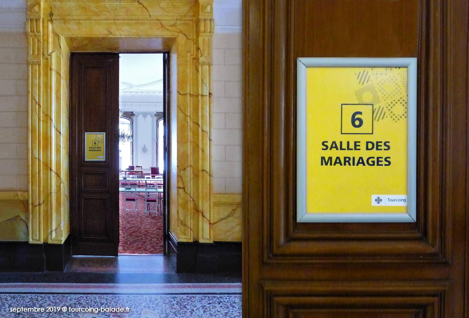 Salles des Mariages, Mairie Tourcoing - Porte d'entrée - 2019