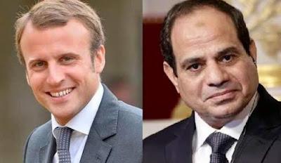 """السيسي  يبحث هاتفياً مع الرئيس الفرنسي تطورات الوضع في ليبيا"""""""