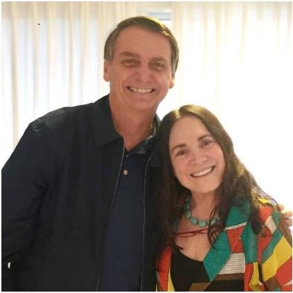 MINISTRA DA CULTURA: Regina Duarte diz que inicia amanhã período de testes na secretaria da Cultura.