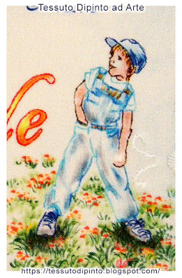 Abbigliamento sportivo per il bimbo dipinto