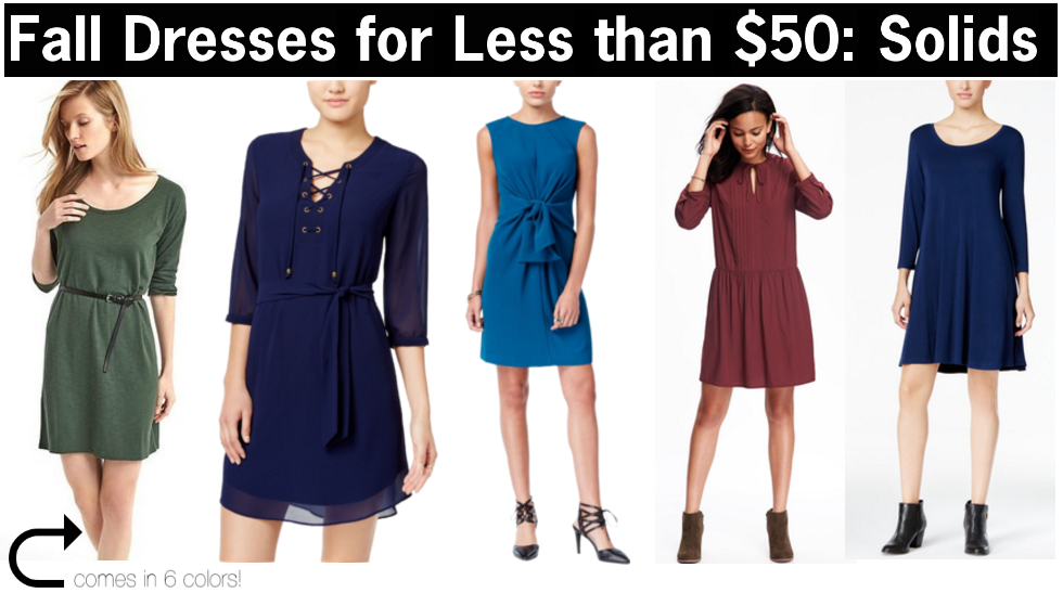 dresses to wear this fall that are less than $50 | fall dresses for less than 50 | a memory of us