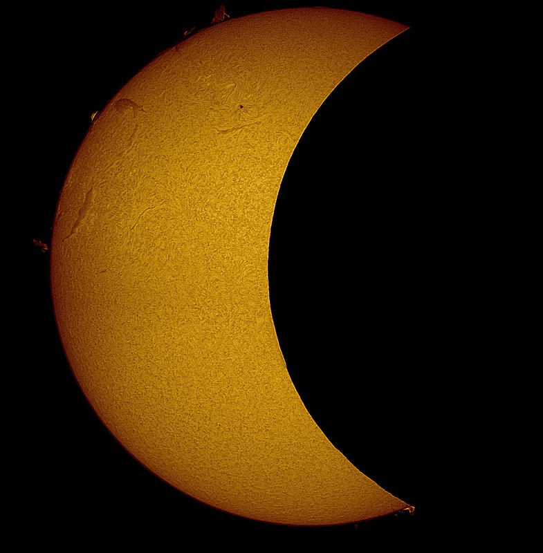 Solar Eclipse March 2015 with telescope