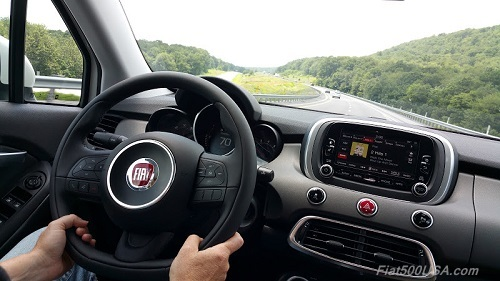 2016 Fiat 500X on Highway