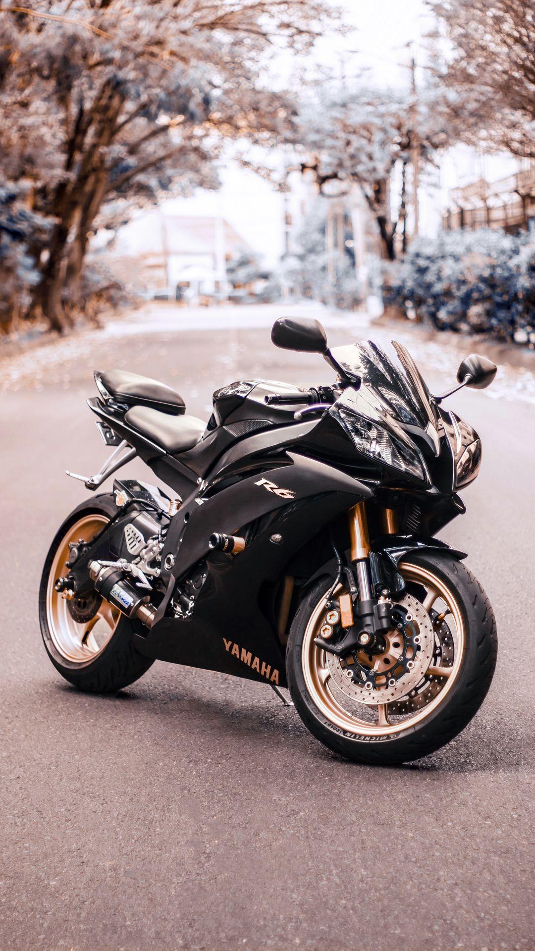 Hd Wallpaper Black Yamaha R6 Side View