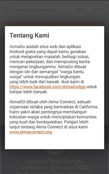 Tentang AtmaGo