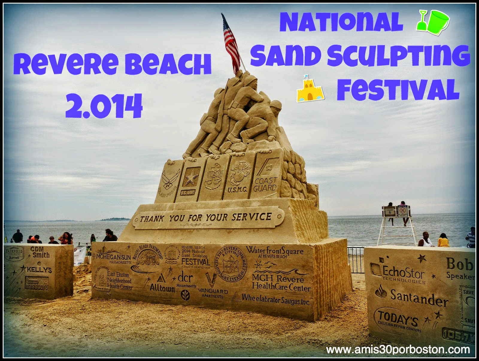 Revere Beach 2014 National Sand Sculpting Festival