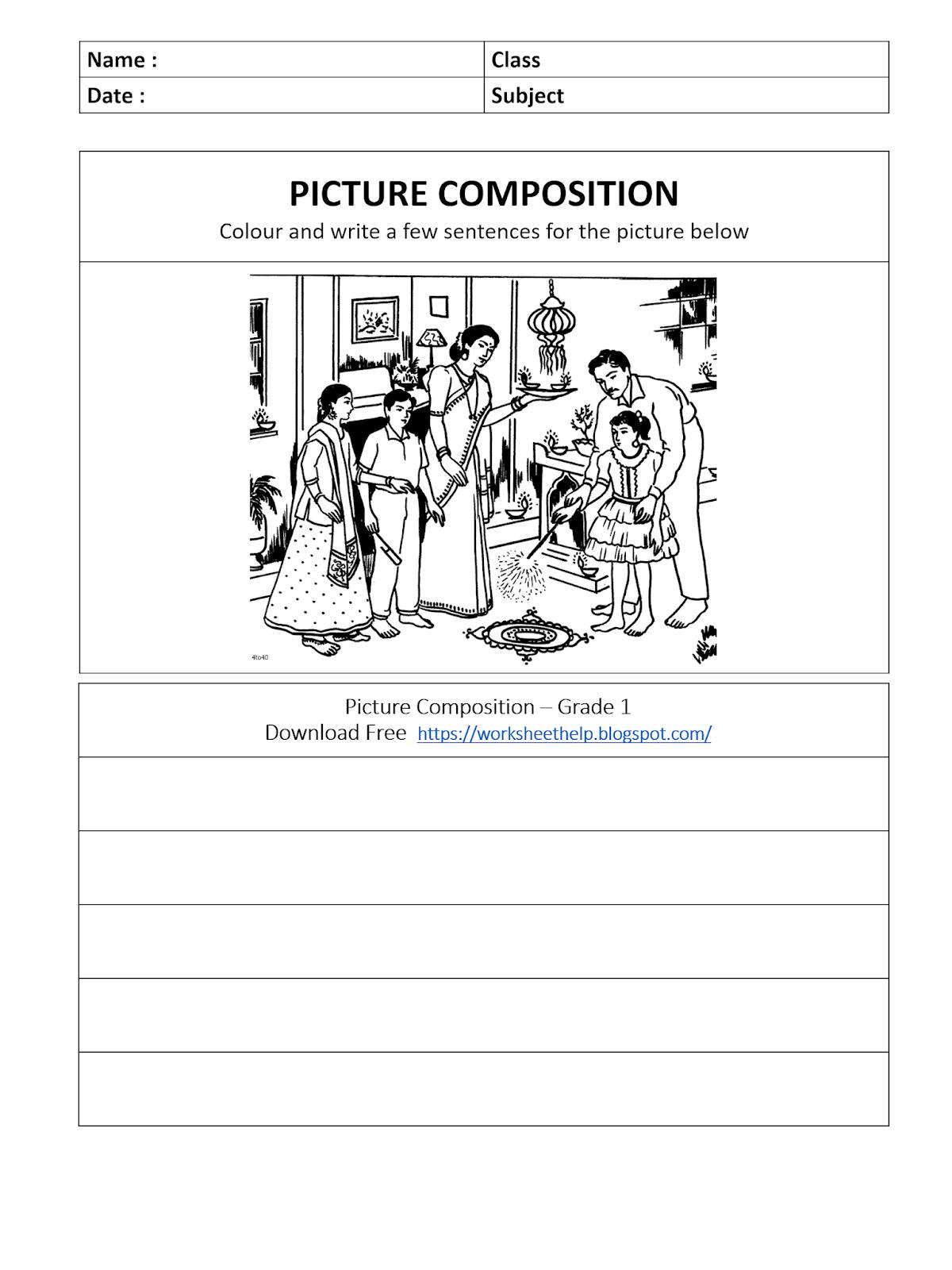 Picture Composition Worksheet Grade 1