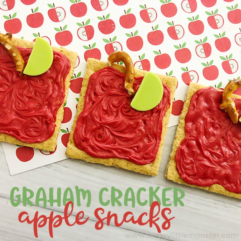 apple snack activity for kids