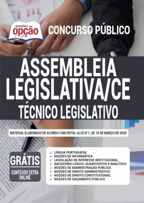 A Apostila Assembleia Legislativa - CE em PDF - Técnico Legislativo - 2020 foi elaborada de acordo com o Edital 01/2020 do concurso, por professores especializados em cada matéria e com larga experiência em concursos.
