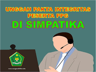 upload pakta integritas ppg di simpatika
