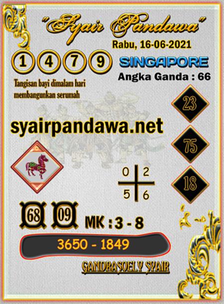 Syair Pandawa SGP Rabu 16-06-2021