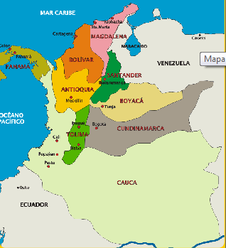 Mapa Politico Estados Unidos De Colombia.Desarrollo Constitucional De Colombia Estados Unidos De