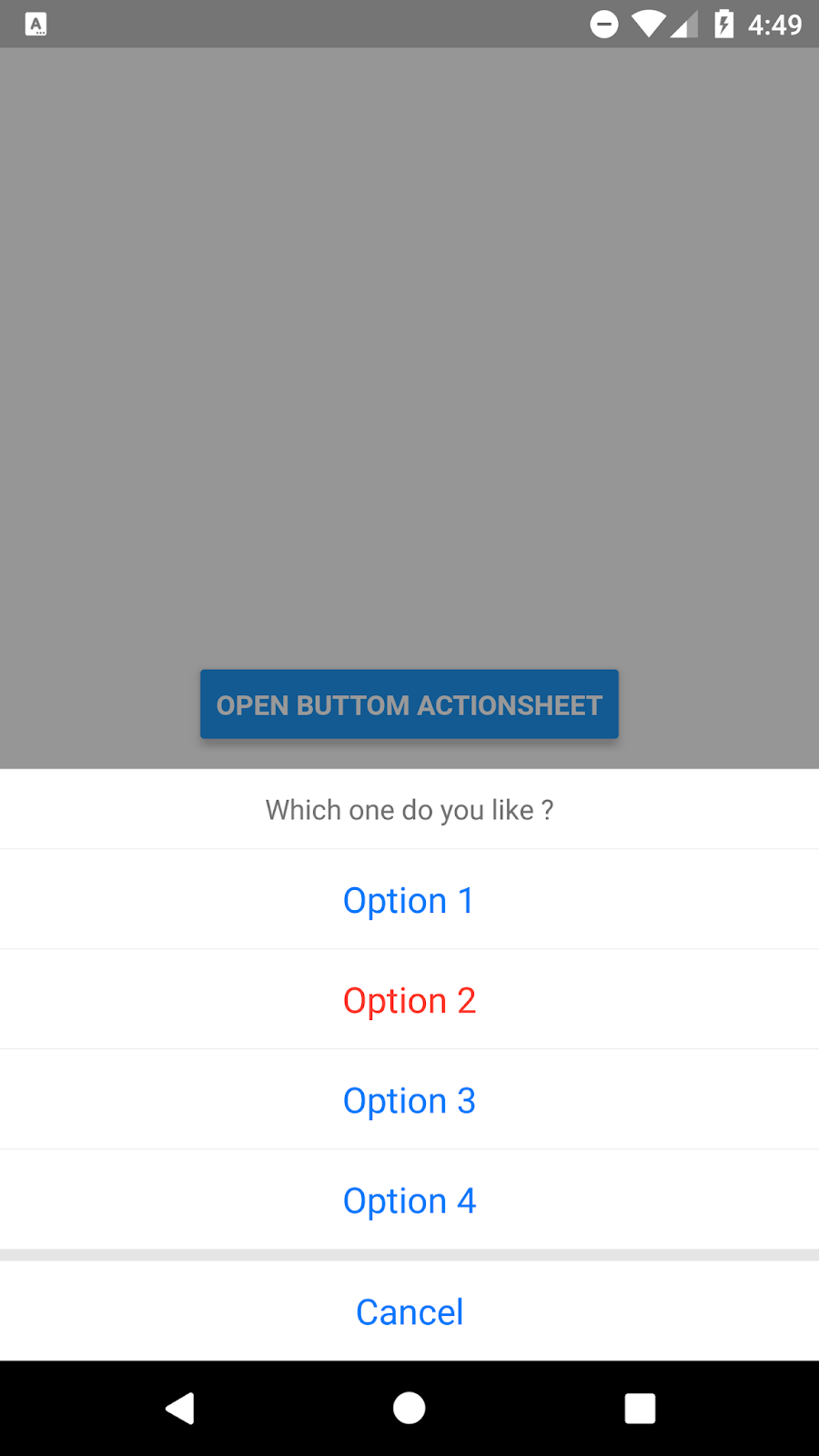 React Native Bottom Action Menu Example | SKPTRICKS
