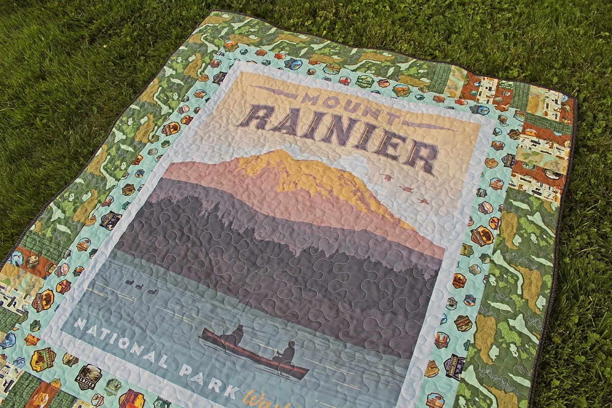 A Bit Of Scrap Stuff Sewing Quilting And Fabric Fun Mount Rainier National Park Quilt With Riley Blake Designs
