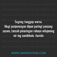 Ucapan ulang tahun Bahasa Jawa Halus