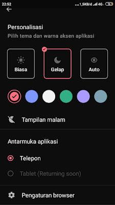 Cara Mengaktifkan Dark Mode (Mode Gelap) Di Opera Mini Android