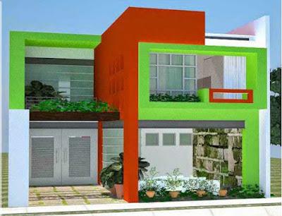 warna cat dinding luar rumah yang cerah 14