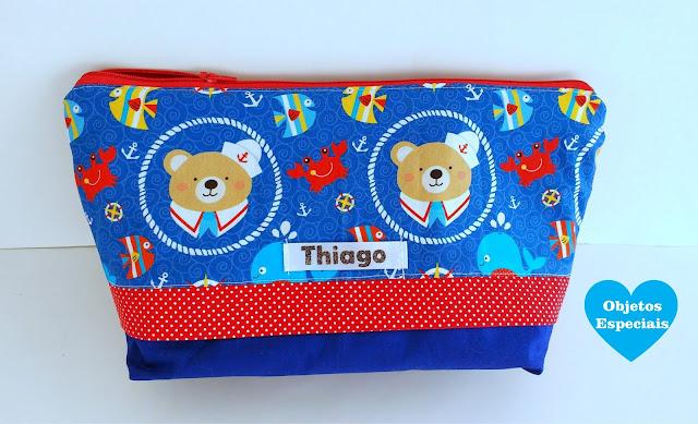 enxoval personalizado Thiago, enxoval urso marinheiro