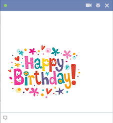 Colorful Happy Birthday for Facebook