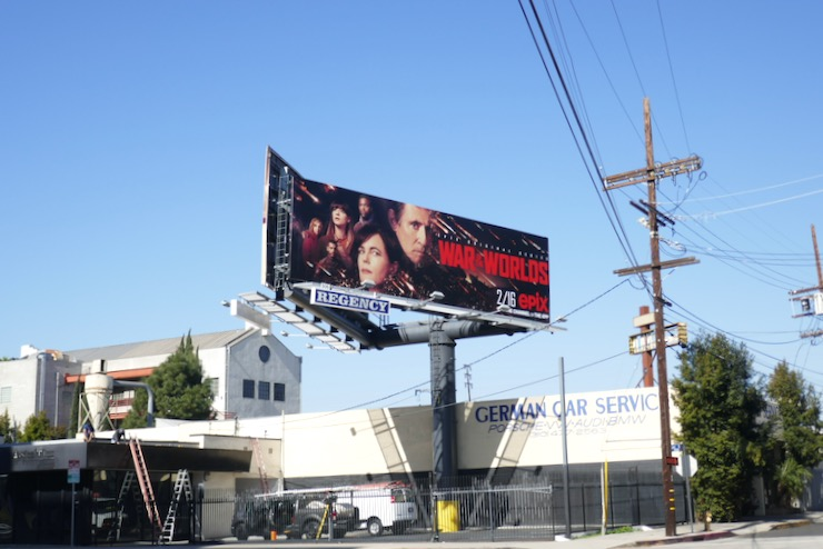 War of the Worlds 2020 series billboard