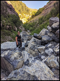 Big Boulder Section along Slide Canyon Waterfall Trail