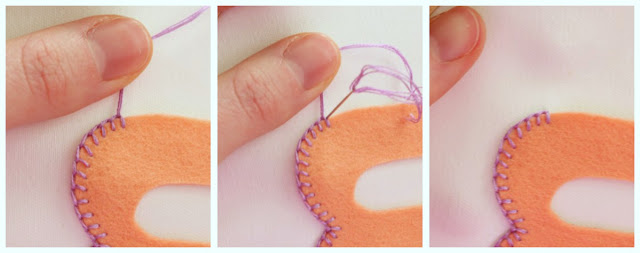 Learn how to blanket stitch with a cute project! from Little Lovelies