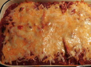 Taco Stuffed Mexican Manicotti