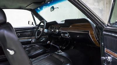 1968 Green Mustang Bullit Fastback Interior Dashboard