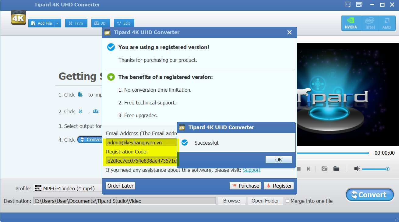Download và cài đặt Tipard 4K UHD Converter 9.2.28 Full Key Serial, Phần mềm chuyển đổi Video 4K.