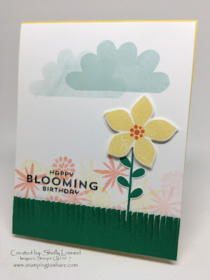 Flower Patch Stamping to Share