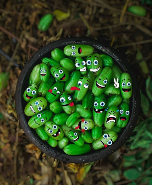green fruit emojis