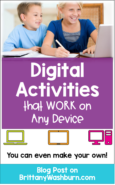 Are you so sick of hearing students or parents say that an activity you sent them won't work on their device? The struggle is real when we are asking them to download apps, log in to platforms, and open browsers across different device types. The only thing that currently works on any type of device and in any browser is HTML5.