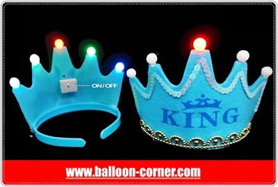 Mahkota Raja + Lampu Untuk Pesta Ulang Tahun Anak