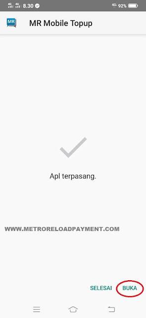 Buka MR Mobile Topup Aplikasi Metro Reload Pulsa