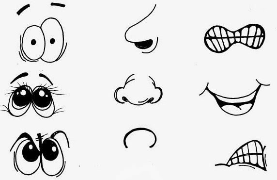Dibujos De Aplicacio De Partes De La Cara: Recursos Para Educación Infantil: El Cuerpo