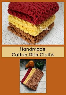 Handmade Cotton Dish Cloths Washcloths