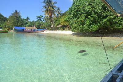 Pulau Tegal DI pantai Sari Ringgung