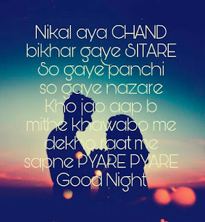 good night shayari with image
