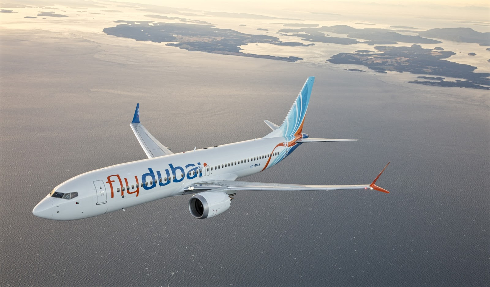 Boeing 737 MAX 8 of FlyDubai While Inflight