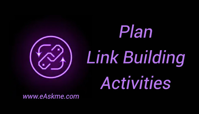 Plan Link Building Activities: eAskme: Link Building Checklist to Earn High Quality Backlinks Naturally
