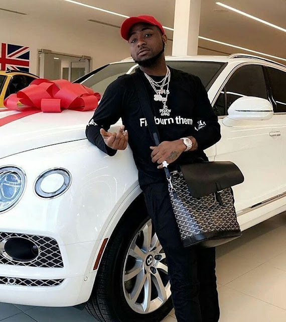 davido bentley bentayga car,davido buys bentley,