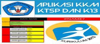 Aplikasi KKM KTSP dan K13 Versi Otomatis